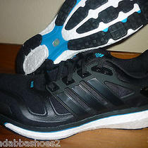 New Mens Adidas Energy Boost 2 Running Shoes M22599 Black Blue Size 9.5 Photo