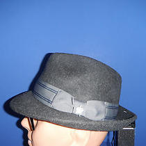 New Mens Christy's Wool Felt  Fedora Hat Grey Medium ( With Bonus Sizing Tape ) Photo