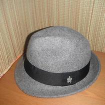 New Mens Christys Basic 100% Wool Fedora Hat Grey Medium Photo