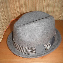 New Mens Christys Deluxe 100%  Wool Fedora Hat Grey Large Photo