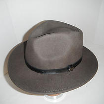 New Mens Christys of London Wool Felt Fedora Outback Hat - Brown Xl Photo
