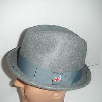 New Mens Christys Wool Felt  Fedora Hat Light Grey Medium Photo