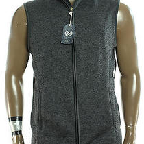New Mens  Club Room Classic  Fleece Charcoal Full Zip Sweater Jacket Vest L  Photo