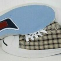 New Mens Converse 121553 Jack Purcell Ltt Ox Grey Navy Plaid Sneakers Size 13 Photo