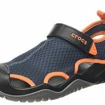New Mens Crocs Swiftwater Mesh Deck Sandals Size 10              Shoes Photo