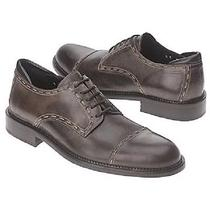 New Mens Donald J Pliner Brian Lace Cap Toe Shoes Size 12 Brown Vachetta Leather Photo