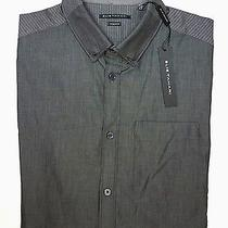 New Mens Elie Tahari Dk Shiny Gray Regular Fit Casual Dress Steve Shirt Size S Photo