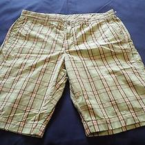 New Mens Fossil Flat Front Chino Skate Surf Street Shorts Size 34 Retail 78 Photo
