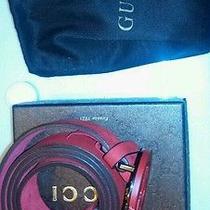 New Mens Gucci Red Gucci Belt Photo