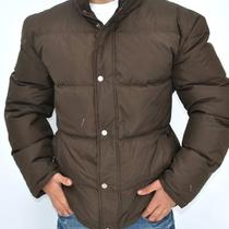 New Mens Guess Puffer Down Jacket Coat Brown Xl Photo
