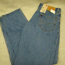 New Mens Levis 550 Relaxed Fit Jeans 33 X 36 Zipper Fly Tapered Leg Photo