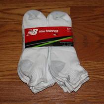 New Mens New Balance Stability Fit Comfort Toe White Gray Quarter Socks 6 Pairs  Photo