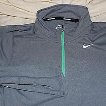 New Mens Nike Dri Fit Half Zip Running Element Small Gray Photo