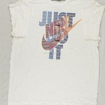 New Mens Nike Just Do It White Graphic Short Sleeve Tee T Shirt Sz Xl 39-17830 Photo