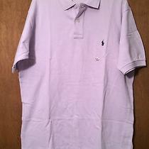 New Mens Polo Ralph Lauren Short Sleeve Purple Polo Shirt Size Medium Free Ship Photo