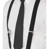 New Mens Smart Black Braces Office/work/1920's/gangster Elasticated Fancy Dress  Photo
