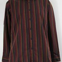 New Mens Striped Shirt Inc Slim Fit S Small L/s Long Sleeve 8639 Photo