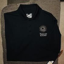 New Mens Under Armour Loose Tuscan Kitchen Logo S/s Polo Shirt Medium Black Nwt Photo