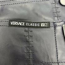 New Mens Versace Classic V2 Navy Blue Pants Sz 40x32 Italy Stitch Big & Tall Nwt Photo