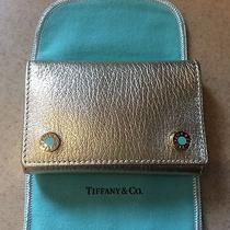 New Metallic Blue Enamel Tiffany Key Holder Wallet Mini Credit Card Chain Ring Photo