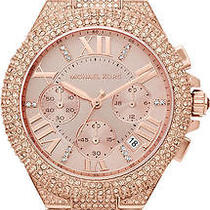 New Michael Kors Camile Womens Mk3196 Rose Gold Stainless Steel Quartz Watch Photo