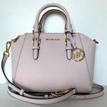 New Michael Kors Ciara Medium Messenger Handbag Leather Powder Blush Photo