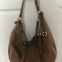 New Michael Kors Lauryn Acorn Brown Large Leather Shoulder Hobo Handba Purse Nwt Photo