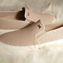 New Michael Kors Leather Perforated Sneakers Keaton Slip-on Blush Pink 7 Photo