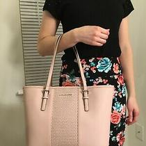New Michael Kors Micro Stud Ballet Jstr Sm Carryall Leather Tote Blush Pink Photo