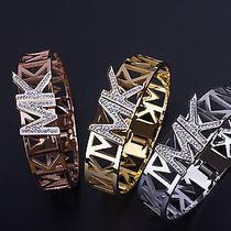 New Michael Kors Mk Logo Silver Gold or Rose Gold Bangle Bracelet Photo