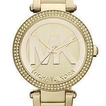 New Michael Kors Mk5784 Women's Parker Gold-Tone Stainless Steel 39mm Watch Photo
