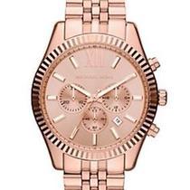 New Michael Kors Mk8319 Women's Large Lexington Rose Gold Ladies Watch Photo