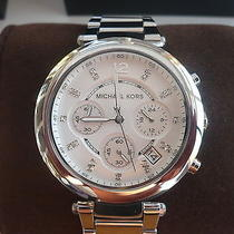 New Michael Kors Parker Chronograph Silver Women's Watch Mk5275 Photo