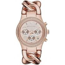New Michael Kors Runway Twist Womens Mk3247 Rose Gold Chronograph Quartz Watch Photo
