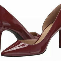 New Michael Kors Sz  7 Dorothy Flex d'orsay Patent Leather Brandy Red Pump Heel Photo