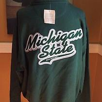 New  Michigan State University Spartans Half Zip Sweatshirt Photo