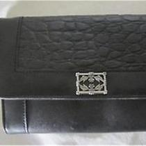 New Minnetonka Clutch Wallet Purse Organized Black Leather Organizer Photo
