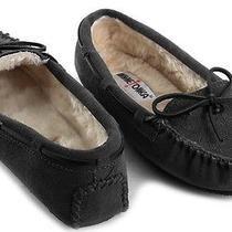 New Minnetonka Kayla Womens Faux Fur Suede Moccasins Loafers Slippers Shoes 5 M Photo