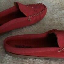 New Minnetonka Leila Pink Moccasins Mules Womens Size 11 Retail 59.99 Photo