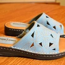 New Minnetonka Light Blue Leather Sandals Size 8 M Photo