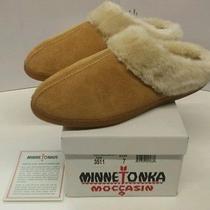 New Minnetonka Womens Pile Lined Mule 3511 Bnib-Tan Sizes 6-7 Onlymade by Hand Photo