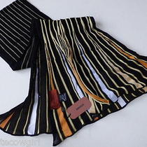 New Missoni Fluted Scarf Black Primrose & Gold - Bumble Bee Colours Photo