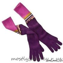 New Missoni for Target Gloves Womens One Size Purple Passion Set Photo