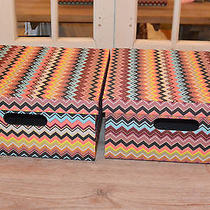 New Missoni for Target Lidded Storage Boxes Set of Two Photo