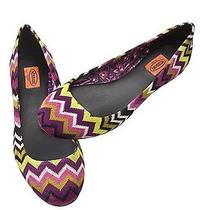 New Missoni for Target Women Ballet Shoes Zig Zag Purple Size 8.5 Photo