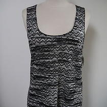New Missoni M Black and White Knit Tank Sweater Top Size 8 Photo