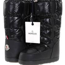 New Moncler Black Leather/nylon Logo Snow  Winter Boots Shoes 5 5.5 6 6.5 7 Photo