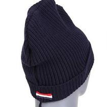 New Moncler Gamme Blue Funky Wool Cashmere Logo Beanie Hat 1/small Photo