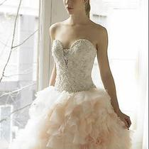 New Moonlight Val Stefani H1198 Ivory/blush Formal Corset Bridal Gown Size 14 Photo