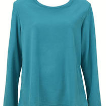 New Morning Glory 019115 Crew Neck Long Sleeve Womens Sleepwear Aqua Size M Photo